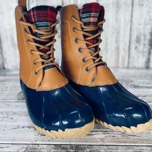 SPORTO WATERPROOF NAVY/PLAID DUCK BOOT